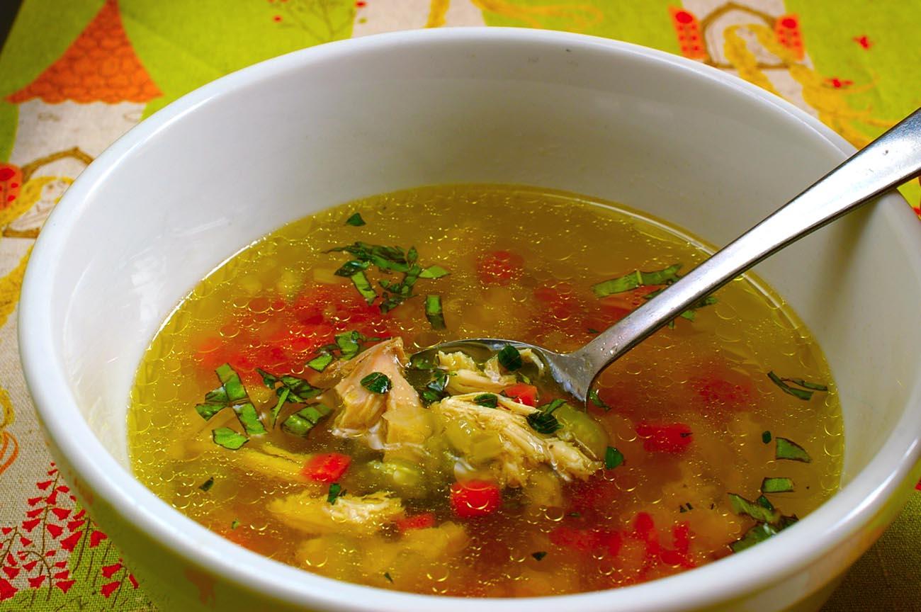Куриный суп бульон рецепт