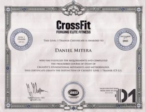 CrossFit level 1 trainer - Michalovce