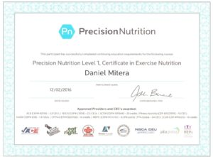 Precision Nutrition level 1 - Michalovce